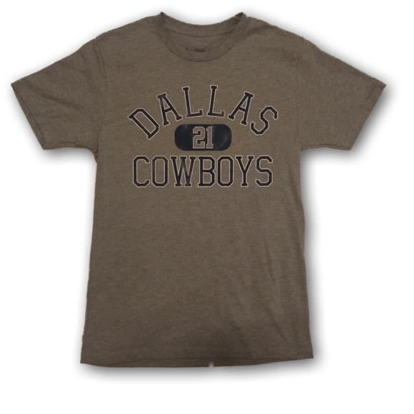 best sneakers 8f857 88eee Dallas Cowboys Zeke Elliott Jersey T Shirt Grey NWT